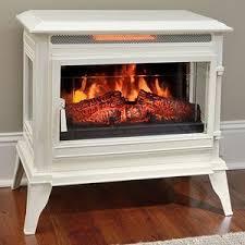electric fireplace stove. comfort smart jackson cream infrared electric fireplace stove with remote control - cs-25ir-