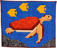 Sea Turtle Quilt Pattern CQ-056 (advanced beginner, lap and throw) & Sea Turtle Quilt Pattern CQ-056 Adamdwight.com