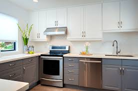 gray kitchen cabinets ideas only grey pictures white and painting your light walls with monsterlune easy