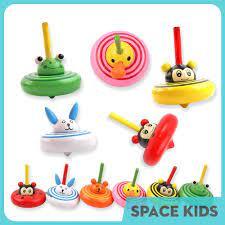 Đồ chơi con quay gỗ hình động vật dễ thương nhiều màu sắc cho bé Space Kids  chính hãng 9,000đ