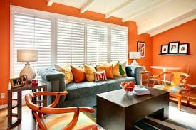 orange living room design