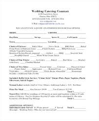 Catering Contract Samples Catering Contract Template Agreement Word Europahaber Com