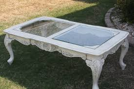 antique coffee table design feat white shabby chic with round books classic furniture glass top black