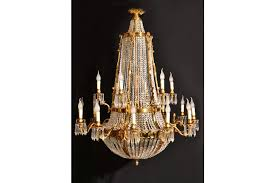 french empire style two tier 18 light ballroom chandelier photo 1