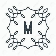 M Lettering Design Black And White Letter M Lettering Design Monogram Sign Banner