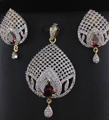 american diamond pendant set with pink sapphire indian kundan ic and gold jewelry in atlanta and