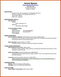 My First Resume Moa Format