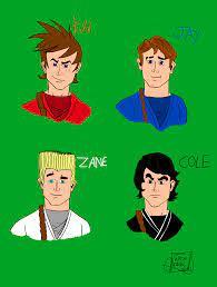 Kai, Jay, Zane and Cole (Version human) by matiriani28 on DeviantArt