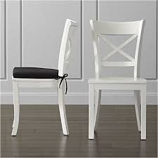vintner white wood dining chair and cushion