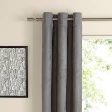 Suedine Concrete Plain Woven Eyelet Curtains (W)228 cm (L)228 cm |  Departments | DIY at B&Q