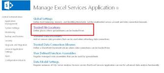 excel service how to configure excel services in sharepoint 2013