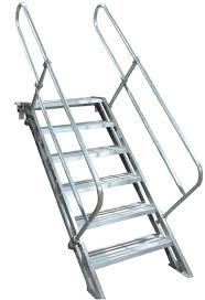 Folding Staircase Removable Aluminum Stairways Metallic Ladder Manufacturing Corp
