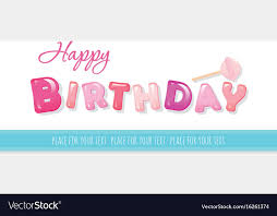 Happy Birthday Banner Sweet Glossy Letters