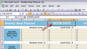 Menu Spreadsheet Template Excel Menu Planner Rome Fontanacountryinn Com