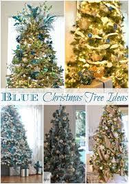 Christmas Tree In Blue Decoration  Christmas Lights Card And DecoreBlue Christmas Tree Ideas