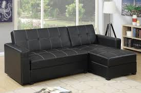 black leather sectional sofa bed  stealasofa furniture outlet