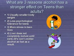 Alcohol effects on teens and adults
