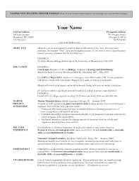 Teaching Resume Format Nardellidesign Com