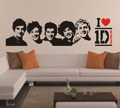 One Direction Sticker 1D Poster Bedroom Living Room
