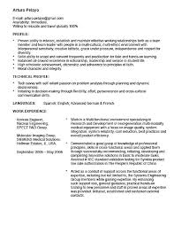 Resume Study Abroad Example