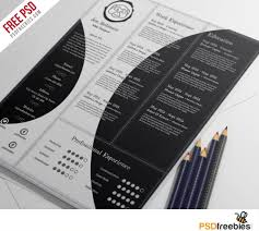 Creative And Professional Resume Free Psd Template Psdfreebies Com