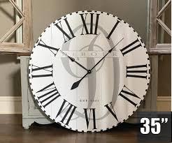 large wall clock monogram decor custom