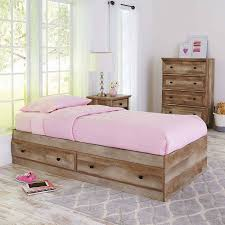twin bed. Modren Bed Better Homes And Gardens Crossmill Mates Twin Bed With Storage Weathered  Finish Throughout