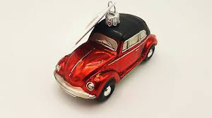 Hanco Design Christbaumschmuck Vw Käfer Cabrio Rot 233401 Ebay