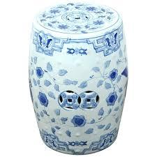 blue garden stool blue and white garden stool white and blue ceramic garden stool 1 cobalt blue ceramic garden stool
