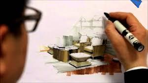 Marker Rendering Interior Design Tutorial Freehand Marker Interior Rendering Mlib Living Room Hd Short 10 Min 160115
