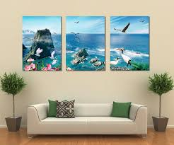 office wall art. Free Shipping 3 Panel Canvas Art Home Decoration Wall Beach Living Room Painting Modern Office