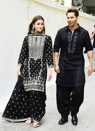 Black Sharara Designs Georgette Base Heavy Embroidered Designer Black Sharara Suit