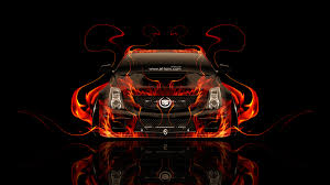 cadillac cts v fire abstract car
