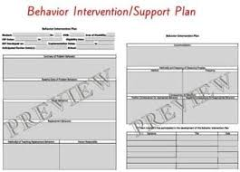 behavior support plan template. Special Education Functional Behavior Assessment Behavior Support
