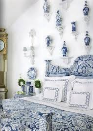 Beautiful Blue and White Bedrooms - The Glam Pad