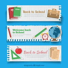 back to banners free vector