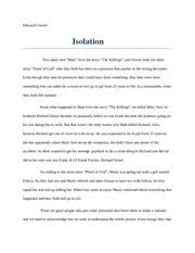 the progressive era essay historical research assignment edward  2 pages isolation essay descriptive and personal narrative on isolation