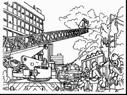 brilliant firefighter hat coloring page with firefighter coloring ...