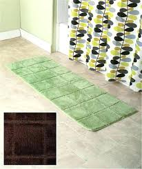bathroom rug runner black 24 x 72 vaughndesign