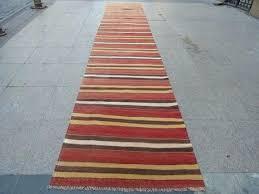 14 ft long runner rug x feet striped vintage by kitchen rugs 14 ft long runner rug
