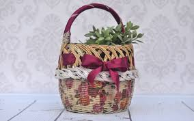 How To Decorate A Cane Decoupage tutorial how to decorate wicker basket DIY tutorial 53