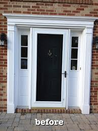 black front door with sidelightsTeacup Lane New Pella Door  Sidelights
