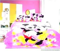 Mouse Bed Set Full Toddler Bedroom Bedding Queen Size Minnie Twin ...