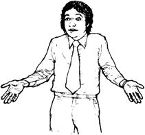 Невербальные средства общения в речевой деятельности человека  Рисунок 1 Пожимание плечами