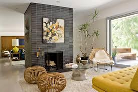 mid century modern fireplace design ideas