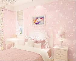 Us 3198 22 Offbeibehang Mode Meisje Roze Pastorale Bloemen 3d Niet Geweven 3d Behang Kids Prinses Kamer Slaapkamer Romantische Behang Roze In