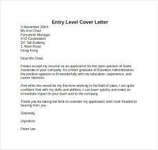 Entry Level Cover Letter to Download