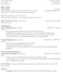 Example Of A Resume For High School Student High School Resume