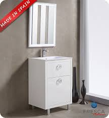fresca platinum due 24 white bathroom vanities with drawers61 drawers