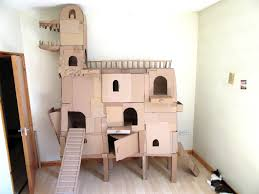 Cat House I Call It The Cat Ark A New Cardboard Cat House Cats